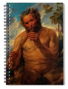 Satyr Playing The Pipe Spiral Notebook
