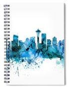 Seattle Washington Skyline Spiral Notebook