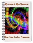 Serenading Hearts Spiral Notebook