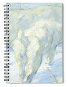 Siberian Dogs In The Snow Spiral Notebook