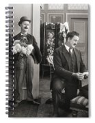 Silent Film Still: Couples Spiral Notebook