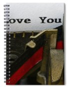 3 Simple Words Spiral Notebook