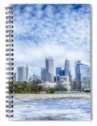 Snow And Ice Covered City And Streets Of Charlotte Nc Usa Spiral Notebook