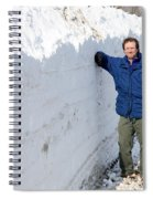 Snow By The Roadside Spiral Notebook