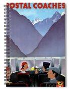 Switzerland Vintage Travel Poster Restored Spiral Notebook