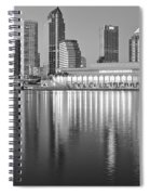 Tampa Bay Black And White Spiral Notebook