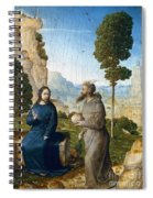 Temptation Of Christ Spiral Notebook