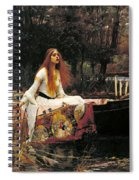 The Lady Of Shalott Spiral Notebook