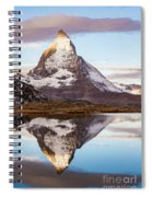 The Matterhorn Mountain In Switzerland Spiral Notebook