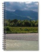 The River Rhine Between Liechtenstien And Switzerland Spiral Notebook