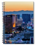 the Strip at night, Las Vegas Spiral Notebook