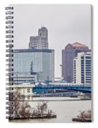 Toledo Ohio City Skyline And Bridges Around Downtown Spiral Notebook
