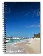 Traditional Filipino Ferry Taxi Tour Boats Puka Beach Boracay Ph Spiral Notebook