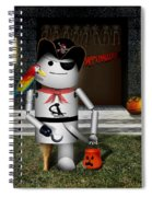 Trick Or Treat Time For Robo-x9 Spiral Notebook