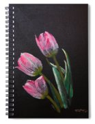 3 Tulips Spiral Notebook
