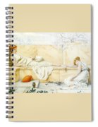 Two Classical Figures Reclining Henry Ryland Spiral Notebook