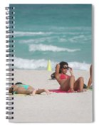 3 Up 1 Down At The Beach Spiral Notebook