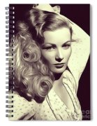 Veronica Lake, Vintage Actress Spiral Notebook