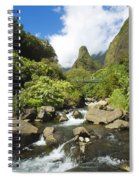 View Of Iao Needle Spiral Notebook
