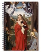 Virgin And Child With Four Angels Spiral Notebook