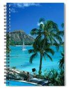 Waikiki And Diamond Head Spiral Notebook
