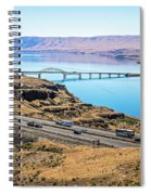Wanapum Lake Colombia River Wild Horses Monument And Canyons Spiral Notebook