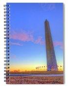 Washington Monument Sunset Spiral Notebook