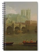 Westminster Abbey And Bridge Spiral Notebook