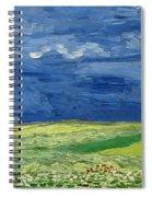 Wheat Field Under Thunderclouds Spiral Notebook