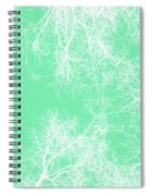 White Silhouetted Trees  Spiral Notebook