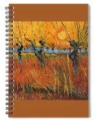 Willows At Sunset Spiral Notebook