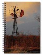 Windmill At Dusk Spiral Notebook