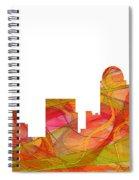 Winston-salem North Carolina Skyline Spiral Notebook