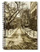 Winter In Paris Spiral Notebook