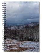 Winter Landscape And Snow Covered Roads In The Mountains Spiral Notebook