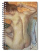 Woman Combing Her Hair Spiral Notebook
