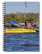 Woman Kayaking Spiral Notebook