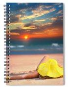 Woman On The Beach Spiral Notebook
