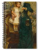 Woman With Child And Goldfish Spiral Notebook