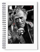 Writer Charles Bukowski On Tv Show Apostrophes September 1978-2013 Spiral Notebook