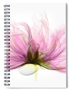 X-ray Of Peony Flower Spiral Notebook