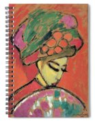 Young Girl With A Flowered Hat Spiral Notebook