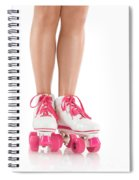 Young Woman Wearing Roller Derby Skates Spiral Notebook