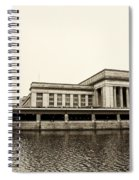 30th Street Station From The River Walk In Sepia Spiral Notebook