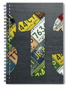 313 Area Code Detroit Michigan Recycled Vintage License Plate Art Spiral Notebook