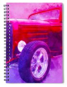 32 Highboy Watercolour Deuce On Acid Spiral Notebook