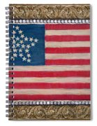 33 Star American Flag. Painting Of Antique Design Spiral Notebook