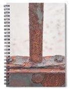 Rusty Metal Spiral Notebook