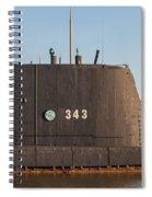 343 Uss Clamagore Diesel Spiral Notebook