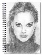 Natalie In Black Spiral Notebook